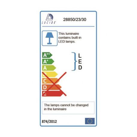 Lucide TEXAS IP44 H11 L15 LED 1x6W Antracyt 28850/23/30 Kinkiet