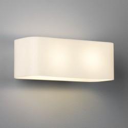 Astro Obround Ścienna 2x40W Max E14 Białe Szkło 1072001