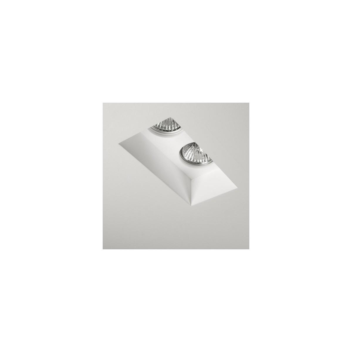 Astro Blanco Twin Fixed Wpuszczana 2x50W Max GU10 Gips 1253001