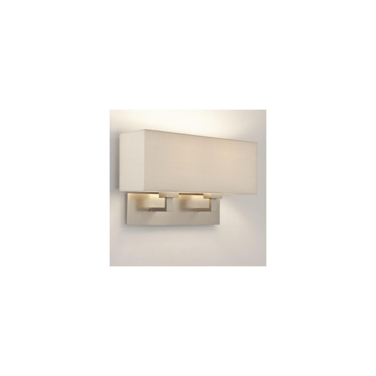 Astro Park Lane Twin Ścienna 2x60W Max E27 Matowy Nikiel 1080020