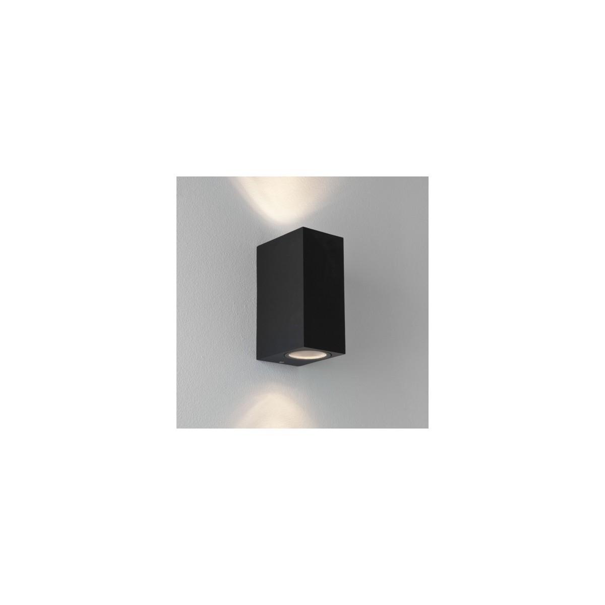 Astro Chios 150 Ścienna 2x6W Max LED GU10 Czarny Struktura IP44 1310004