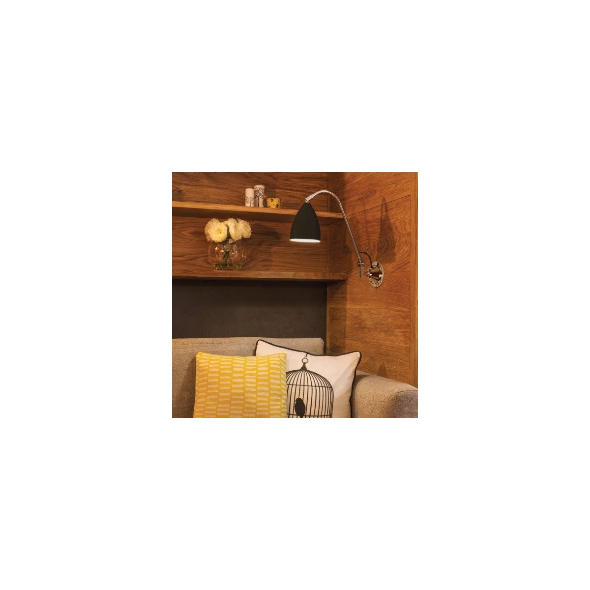 Astro Joel Grande Wall Do Czytania 1x42W Max E27 Czarny Mat 1223022