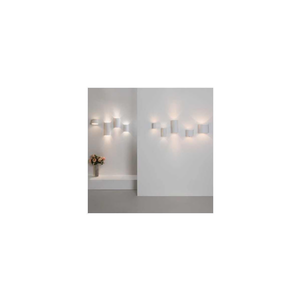 Astro Brenta 175 Ścienna 1x12W Max LED E27 Gips 1195003