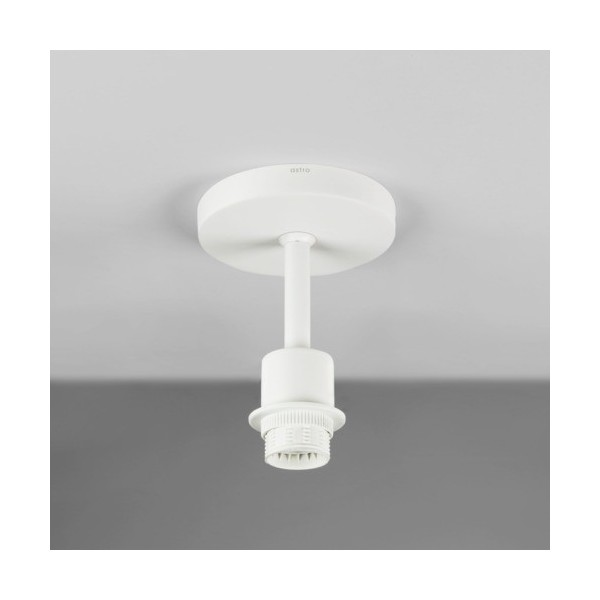 Astro Semi Flush Unit Sufitowa 1x60W Max E27 Biały Struktura 1362004