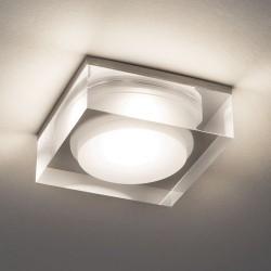 Astro Vancouver Square 90 LED Wpuszczana 1x6W LED Akryl Transparentny IP44 1229013