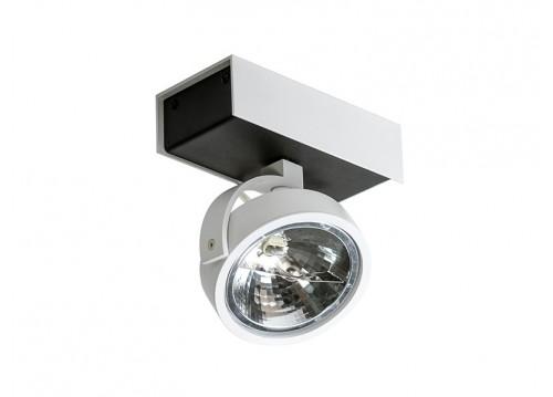 Azzardo MAX 1 12V 1xAR111 biały/czarny reflektor AZ1372