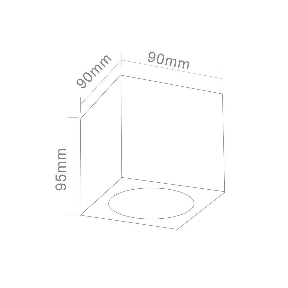 Orlicki Design Cubo Nero 1x50W GU10 Natynkowa