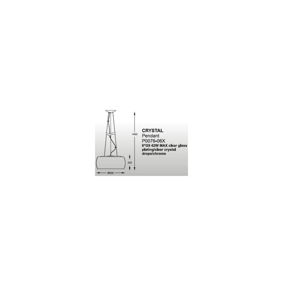 Zuma Line Crystal 50cm P0076-06X-F4FZ Wisząca