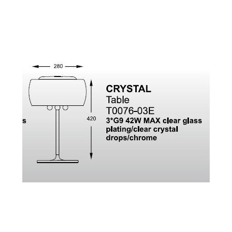Zuma Line Crystal T0076-03E-F4FZ Stołowa