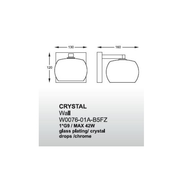 Zuma Line Crystal W0076-01A-B5FZ Kinkiet
