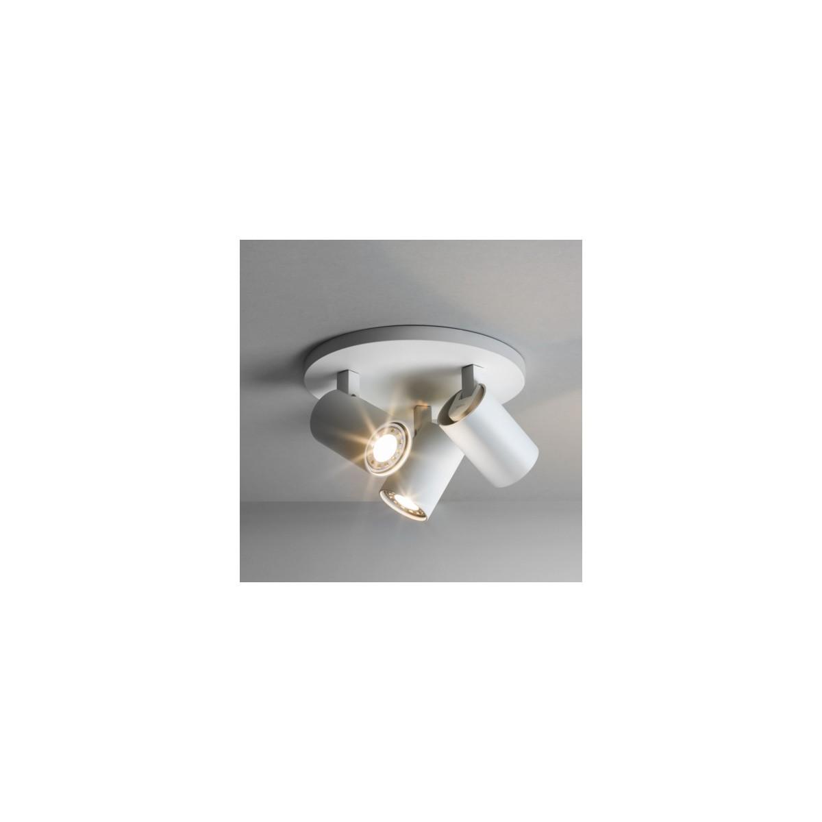 Astro Ascoli Triple Round Reflektor 3x50W Max GU10 Biały Struktura 1286002
