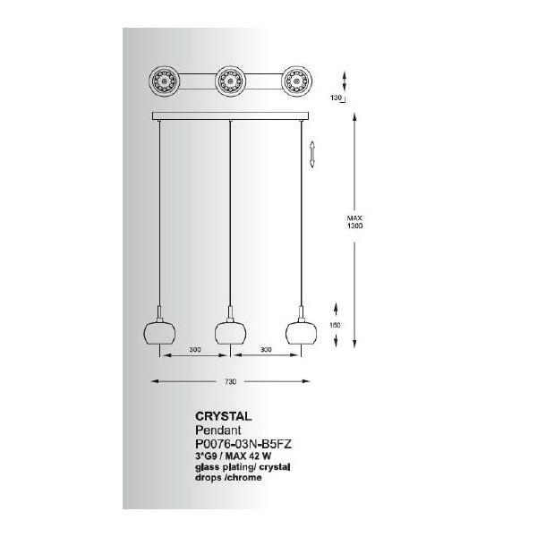 Zuma Line CRYSTAL P0076-03N-B5FZ Wisząca