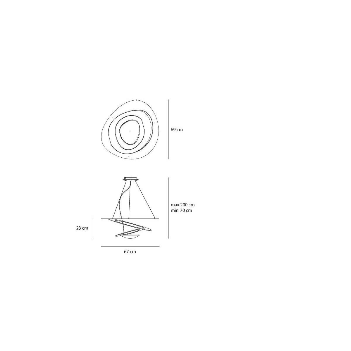 Artemide PIRCE MINI SOSPENSIONE Biały LED 1256110A Wisząca