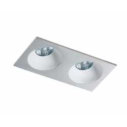Azzardo HUGO 2 DOWNLIGHT ALUMINIUM 2xGU10 Wpuszczana Aluminium AZ1737