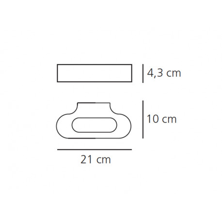 Artemide TALO PARETE Chrom 0613030A Kinkiet