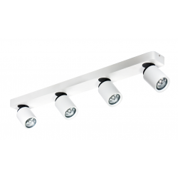 Azzardo TOMI 4 PR WHITE 4xGU10 Reflektor Sufitowy Biały/Szary AZ0665