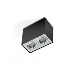 Azzardo ELOY 2 BLACK/ALUMINIUM 2xGU10 Natynkowa Czarny/Aluminium AZ1355