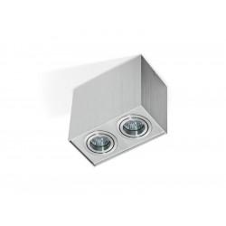 Azzardo ELOY 2 ALUMINIUM 2xGU10 Natynkowa Aluminium AZ1352