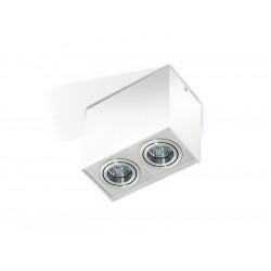 Azzardo ELOY 2 WHITE/ALUMINIUM 2xGU10 Natynkowa Biały/Aluminium AZ1354