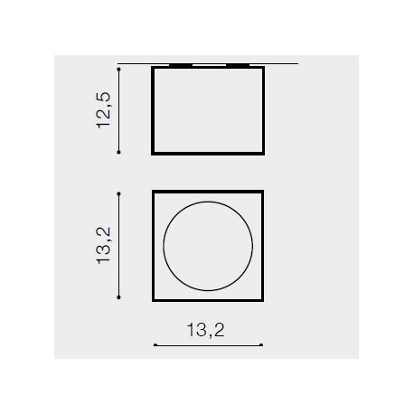 Azzardo ALEX 12V BLACK 1xAR111 Natynkowa Czarny AZ1358