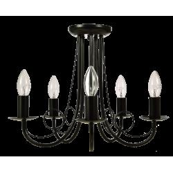 Light Prestige Perła 5 wisząca czarna 5xE14 czarny LP-020/5P black