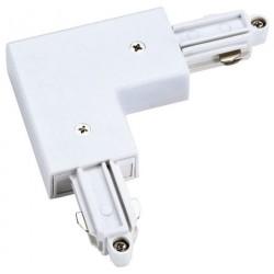 Light Prestige Łącznik L biały do szynoprzewodów 1F biały LP-552-S-WH
